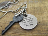 Live for the Moments Key Charm Necklace