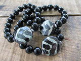 Kazuri and Black Onyx Women's Bracelet