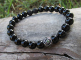 Black Onyx Men's Beaded Bracelet