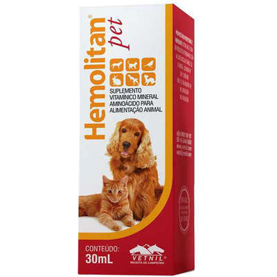 Hemolitan Pet Gotas 30ml Vetnil