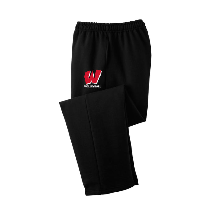 Lakota West Boys Volleyball 2021 - DryBlend Open Bottom Sweatpant (Black)