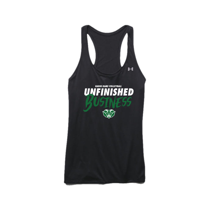 Badin Boys Volleyball 2021 - UA Women's Tech Tank (Black)