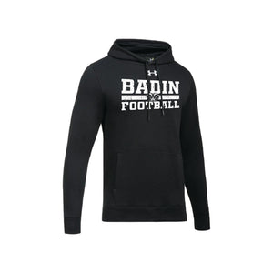 Badin Football - UA Hustle Fleece Hoody (Black)