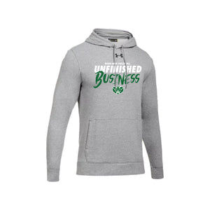 Badin Boys Volleyball 2021 - UA Hustle Fleece Hoody (True Gray Heather)