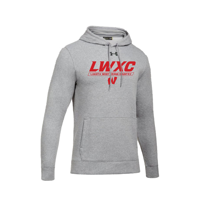 Lakota West XC -  UA Hustle Fleece Hoodie (True Gray Heather)