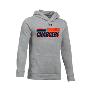 Brokerage Chargers 2020 - UA Hustle Fleece Hoody (True Gray Heather)