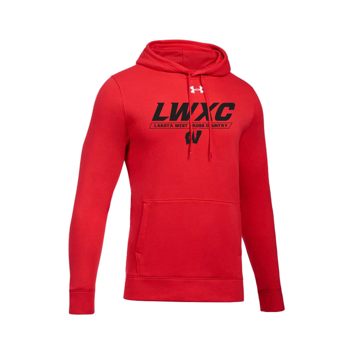 Lakota West XC -  UA Hustle Fleece Hoodie (Red)