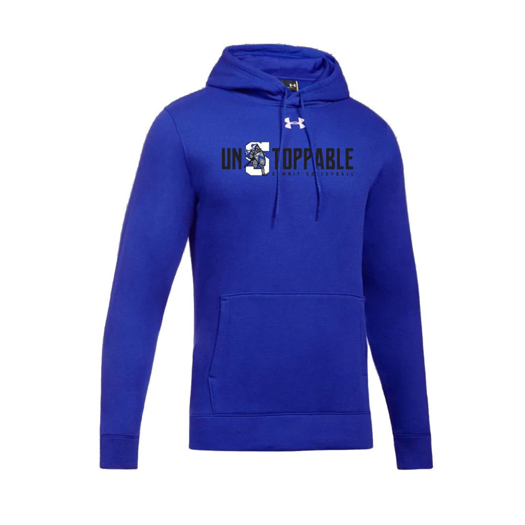 The Summit Volleyball - UA M's Hustle Fleece Hoodie (Royal)