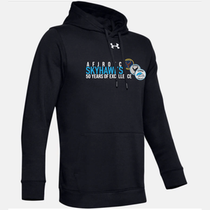 Fairborn AFJROTC - 50 Years of Excellence UA Hustle Fleece Hoody (3 Colors)