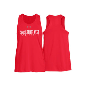 Lakota West Football -  UA Women's Game Time Tank (Red)