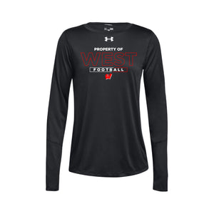 Lakota West Football - UA Women's Locker Tee LS 2.0 (Black)