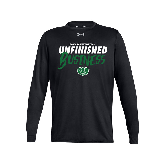 Badin Boys Volleyball 2021 - UA Locker 2.0 Long Sleeve (Black)