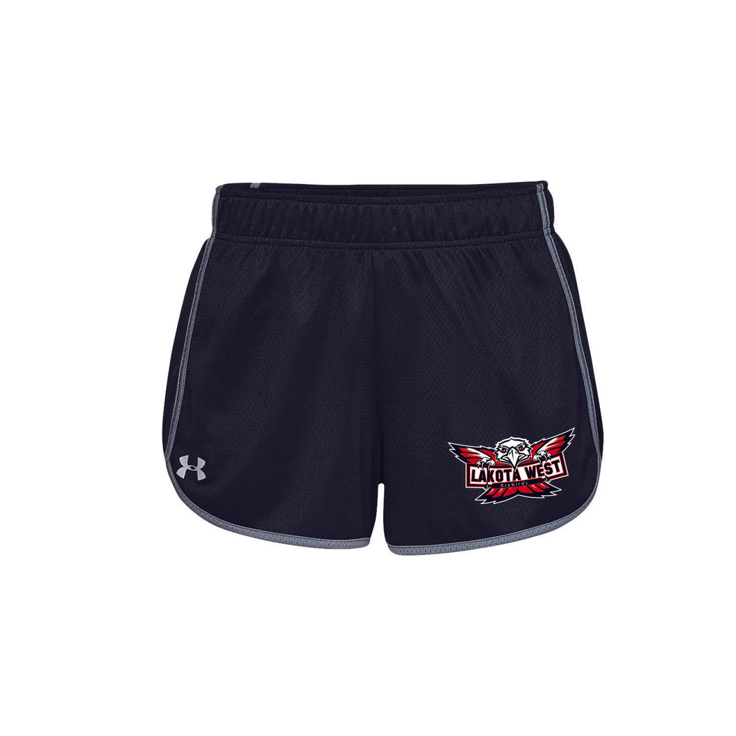 Lakota West Track UA Ladies Tech Mesh Shorts