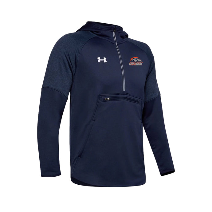 Brokerage Chargers - UA Qualifier Fleece Anorak (Midnight Navy)