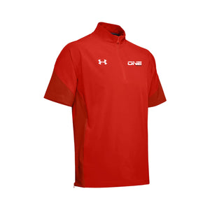One Nation - UA Squad Coach's Short Sleeve ¼ Zip (Dark Orange)