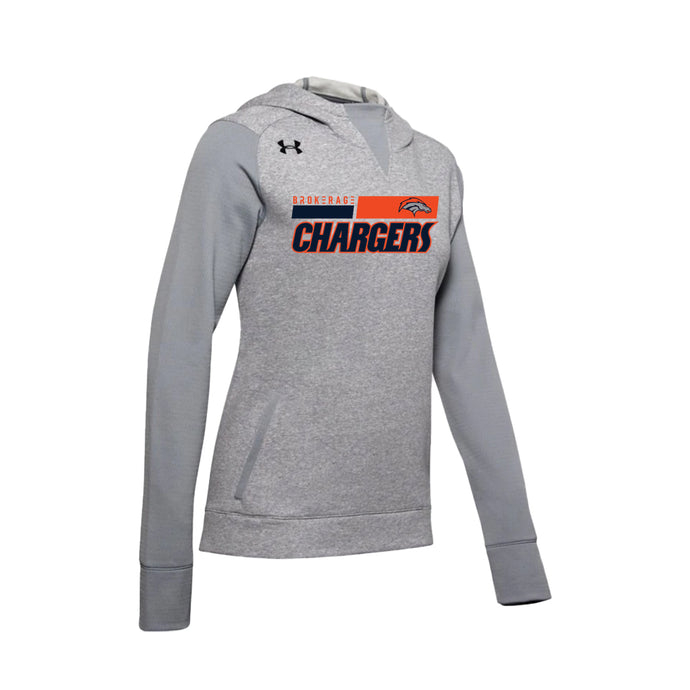 Brokerage Chargers - UA W's Dynasty Fleece Hoody (Steel Medium Heather)