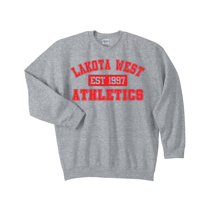 Lakota West Athletics Crewneck (Sport Grey)