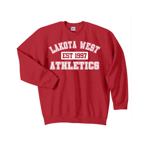 Lakota West Athletics Crewneck (Red)
