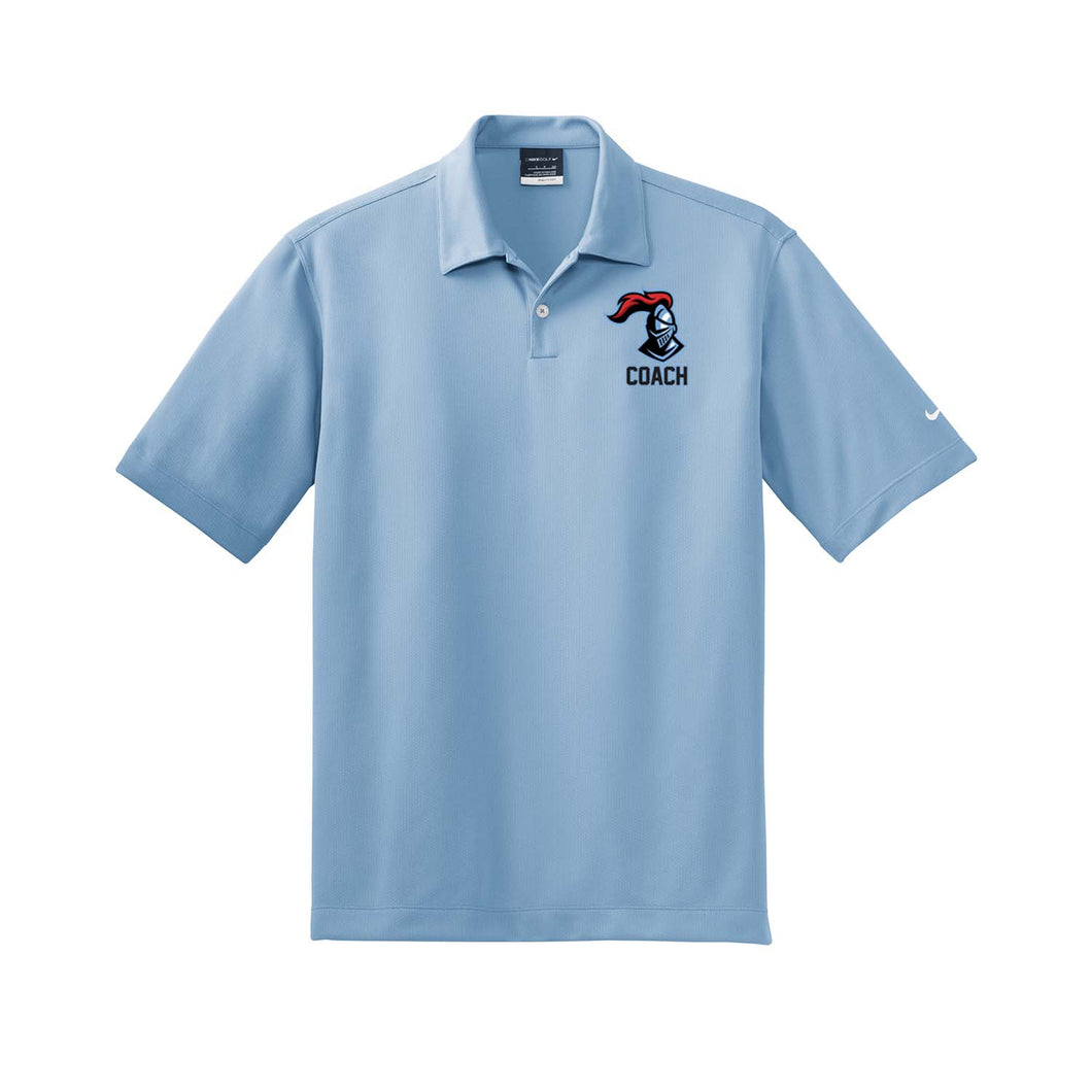 Kings Youth Football Coaches - Nike Dri-FIT Pebble Texture Polo (Fair Blue)