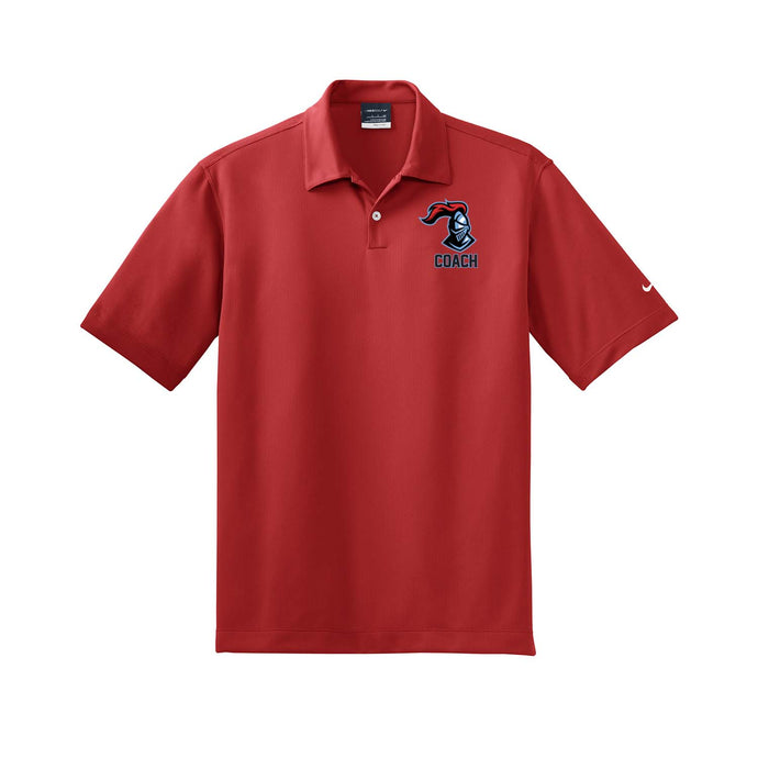 Kings Youth Football Coaches - Nike Dri-FIT Pebble Texture Polo (Red)