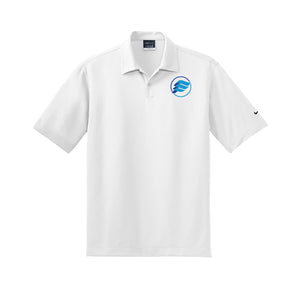 E-Wave Nike Dri-FIT Pebble Texture Polo (White)