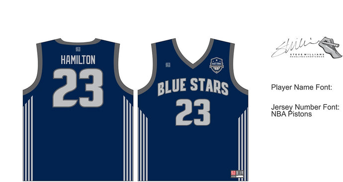 2nd-4th Grade Hamilton Blue Stars JERSEY ONLY