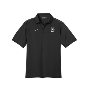 Harrison Golf - Nike Men's Dri-FIT Sport Swoosh Pique Polo - Black