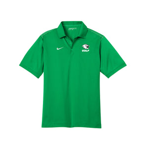 Harrison Golf - Nike Men's Dri-FIT Sport Swoosh Pique Polo - Lucky Green