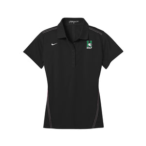 Harrison Golf - Nike Ladies Dri-FIT Sport Swoosh Pique Polo - Black