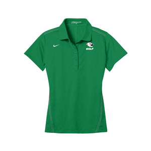 Harrison Golf - Nike Ladies Dri-FIT Sport Swoosh Pique Polo - Lucky Green