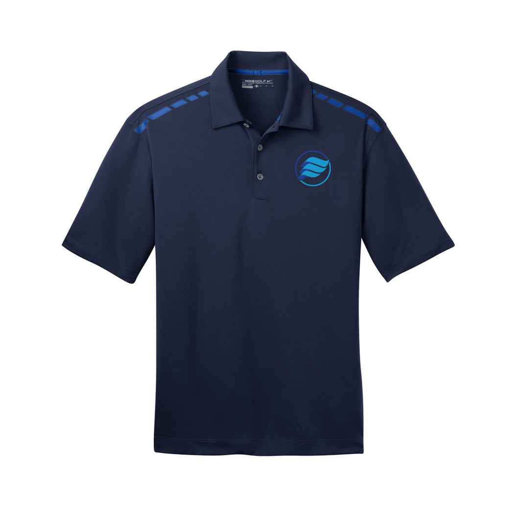 E-Wave Nike Dri-FIT Graphic Polo (Navy)