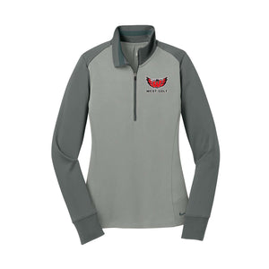Lakota West Golf - Nike Ladies Dri-FIT 1/2-Zip Cover-Up (Grey)