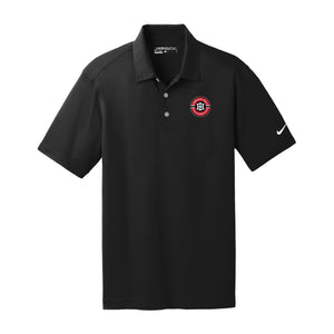 Indian Hill Lacrosse 2021 - Nike Dri-FIT Vertical Mesh Polo (Black)
