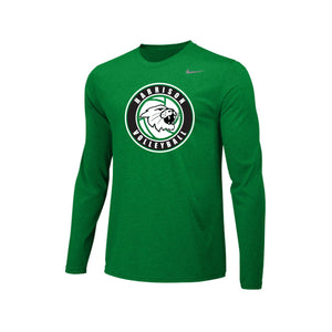 Harrison Volleyball 2020 - Nike Team Legend LS Crew (Green)