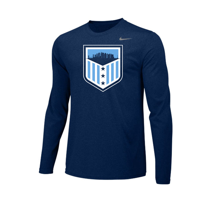 G7A Lacrosse - Nike Team Legend LS Crew (College Navy)