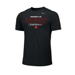 Lakota West Football - Nike Team Legend Tee (Black)