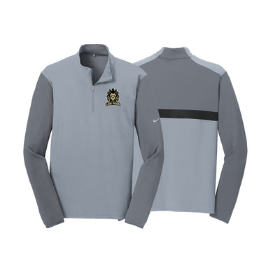 Delaware Lions - Nike Dr-FIT 1/2 Zip Cover-Up (Cool Grey)