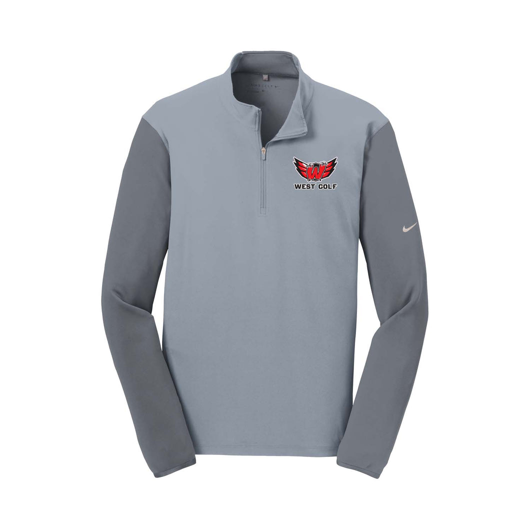 Lakota West Golf - Nike Dri-FIT 1/2 Zip Cover-Up (Grey)