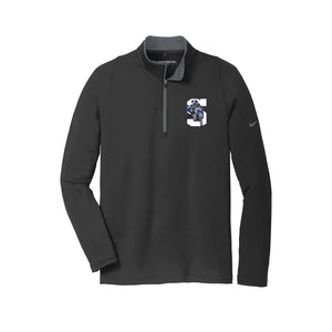The Summit Volleyball - Nike Dri-FIT Stretch 1/2-Zip Cover-Up (Black)