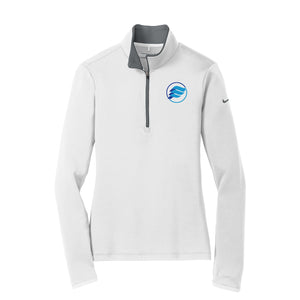 E-Wave Nike Ladies Dri-FIT Stretch 1/2-Zip Cover-Up