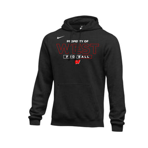 Lakota West Football - Nike Club Fleece Hoodie (Black)