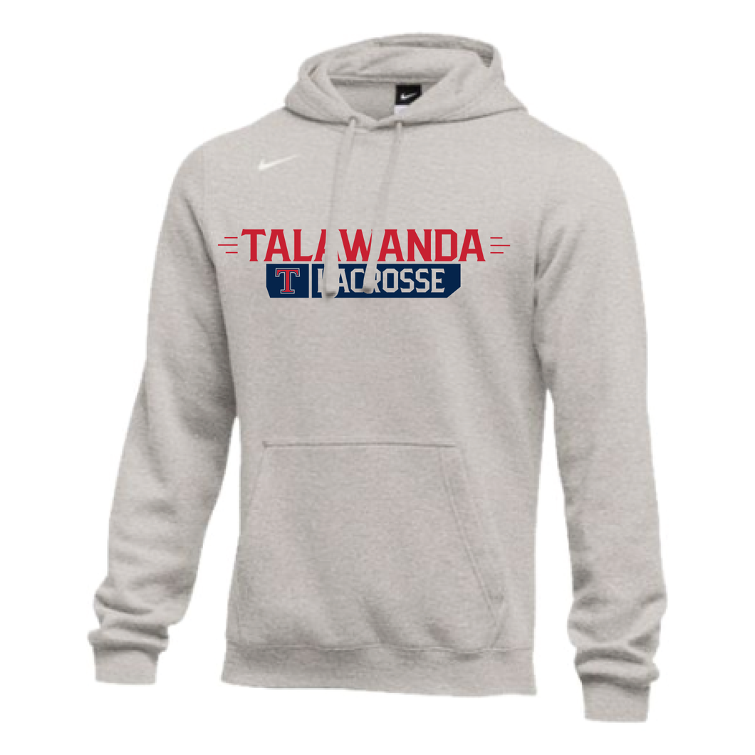 Talawanda Lacrosse - Nike Club Fleece Hoodie (Grey Heather)