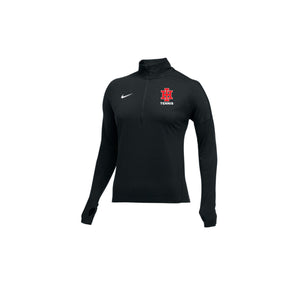 Indian Hill Tennis - Nike Women's Dry Element 1/2 Zip (BLK Heather)
