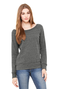 Hamilton Cheer - Women's Fleece Wide-Neck Sweatshirt (Grey Triblend)