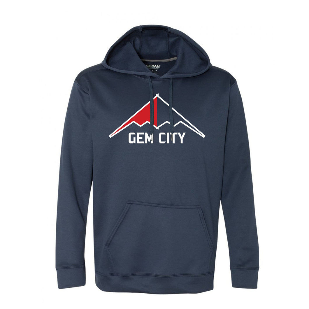 Gem City Bombers Tech Hoodie (Navy)