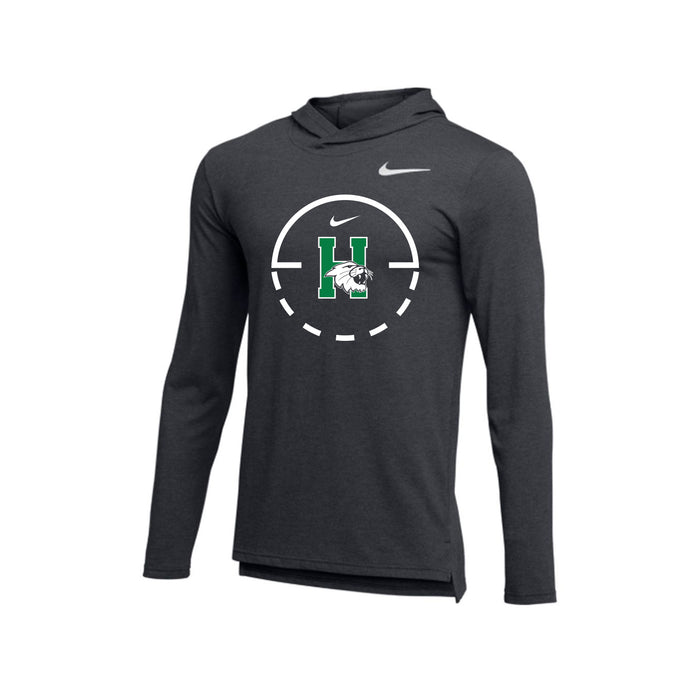 Harrison Basketball - Nike Breathe Top Dry Hoodie (Anthracite)