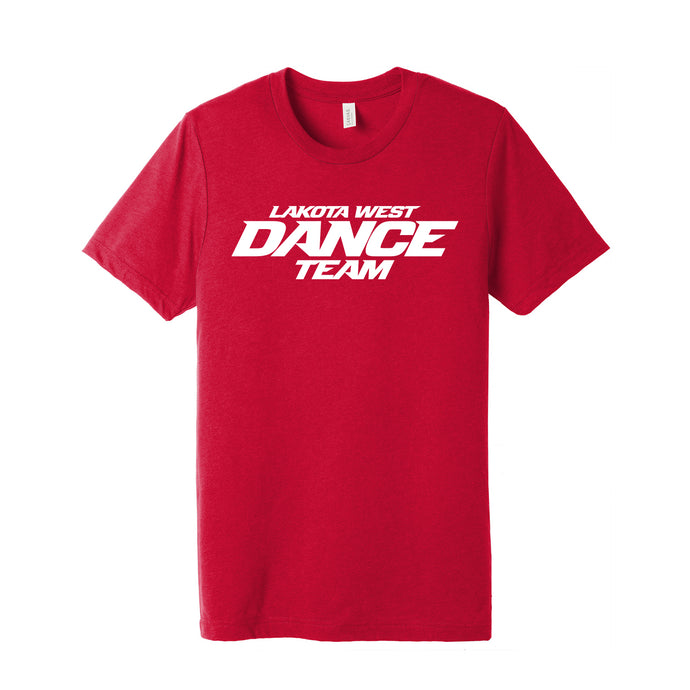 LW Dance Triblend SS Tee (Solid Red)