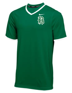 Badin Baseball - Nike Vapor Select SS Baseball Top (Dark Green)