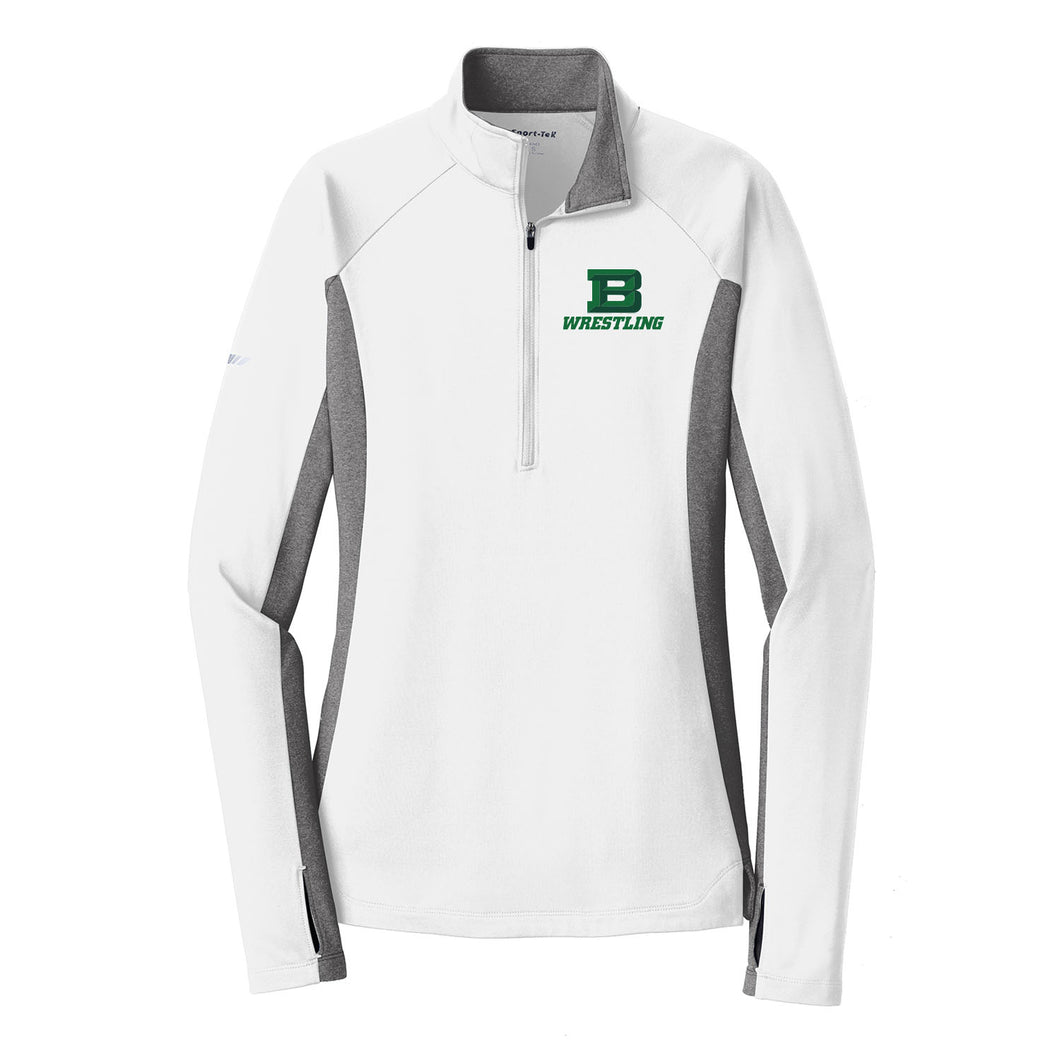 Badin Wrestling Ladies Stretch Contrast 1/2-Zip Pullover