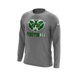 Badin Football Nike Core Cotton Long Sleeve Tee